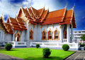 The Marble Temple  Bangkok Thailand Stock Photos