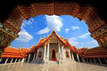 The Marble Temple, Bangkok, Thailand Royalty Free Stock Images
