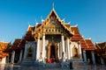 The Marble Temple under the blue sky, Wat Benchamabopitr Dusitvanaram (Bangkok, Thailand)