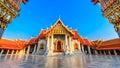 The Marble Temple, Wat Benchamabopit Dusitvanaram in Bangkok, Th