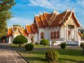 The Marble Temple, Wat Benchamabopit Dusitvanaram in Bangkok, Th