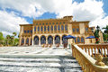 Marble terrace of the ringling venitian palace Royalty Free Stock Photo