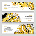 Marble texture banner Royalty Free Stock Photo