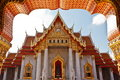 Marble thai temple view of traditional style Royalty Free Stock Images