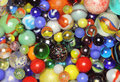 Marbles collection many different types of colorful Royalty Free Stock Image