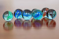 Marbles a lot of colorful close up soft focus Royalty Free Stock Images
