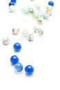 Marbles photo of different color on white Royalty Free Stock Image