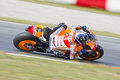 Marc marquez of honda team racing at motogp grand prix of catalunya on june in montmelo barcelona spain jorge lorenzo wins the Royalty Free Stock Photo