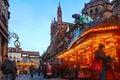 Marché de Noël à Strasbourg Photos libres de droits