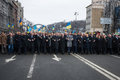 March of dignity in kyiv kiev ukraine feb president ukraine petro poroshenko foreign leaders and distinguished guests took part Royalty Free Stock Photo