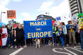 March for Europe Royalty Free Stock Photo