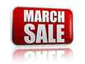 March sale red banner Royalty Free Stock Photo