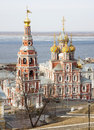 March view stroganov church nizhny novgorod russia Stock Photo