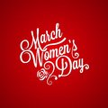 March women day vintage lettering background this is file of eps format Stock Image