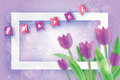 8 March Women`s Day greeting card template