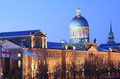 Marche bonsecours at dusk montreal canada Royalty Free Stock Photo