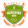 Marching band emblem drum corp badge design Royalty Free Stock Images