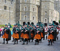Marching band of the Royal Irish Rangers Royalty Free Stock Photo