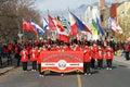 Marching band at Toronto Santa Claus Parade Royalty Free Stock Photo