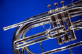 Marching French Horn Blue Royalty Free Stock Photography