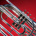 Marching French Horn Close Stock Photo