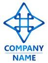 Marchio blu del triangolo 3D Fotografie Stock Libere da Diritti