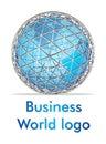 Marchio di affari di mondo 3D Immagini Stock