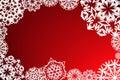 Marco de los copos de nieve Imagenes de archivo