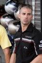 Marco Melandri at the Moto GP 22 Oct 09 Royalty Free Stock Photo