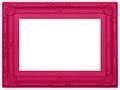 Marco plástico rosado Fotografía de archivo libre de regalías