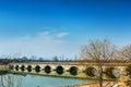 Marco Polo bridge wanping in Beijing Royalty Free Stock Photo