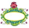 Marco rizado floral   Foto de archivo libre de regalías