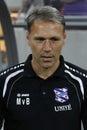 Marco van basten manager of sc heerenveen during the football match between fc rapid bucharest and sc heerenveen europa league Stock Photo