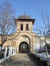 Marcuta monastery bell tower on blue sky in bucharest romania Royalty Free Stock Photography