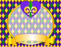 Mardi Gras background design Stock Photos