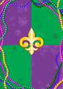 Mardi gras background design with place for text Royalty Free Stock Photos