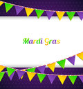 Mardi Gras background with flags Royalty Free Stock Photo