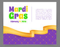 Mardi Gras background with ribbon Royalty Free Stock Photo