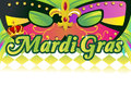 Mardi gras background a vector illustration of with copy space Royalty Free Stock Images