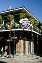 Mardi Gras Balcony, Bourbon Street Stock Image