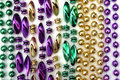 Mardi Gras beads Stock Photo
