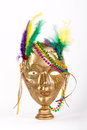 Mardi Gras beads and mask Stock Image