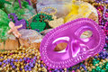 Mardi gras cake Royalty Free Stock Photos