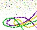 Mardi gras carnival party design Royalty Free Stock Photo