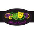 Mardi Gras celebration label