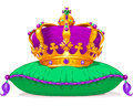 Mardi gras crown illustration of beautiful Royalty Free Stock Photos