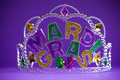 Mardi Gras crown on a purple background Royalty Free Stock Image