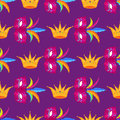 Mardi Gras Festival Mask and Crow Wrapping Paper Royalty Free Stock Photo