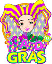 Mardi gras harlequin design lady Stock Photo