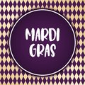 Mardi Gras holiday background. Vector template EPS10.